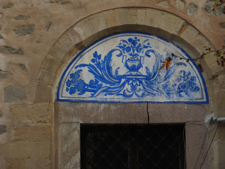 pretty old painting - ornament in Plovdiv, Bulgaria