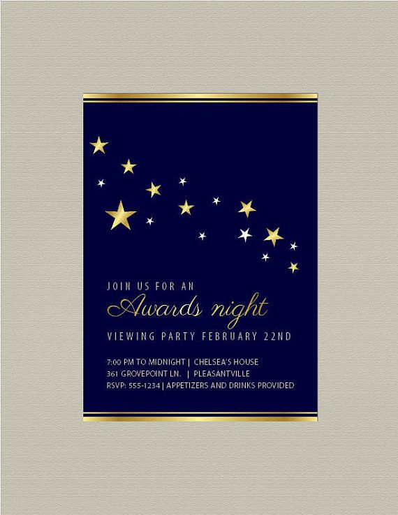 Awards Night Printable Invitation-- Great for schools, churches or - how to write a invitation letter for dinner