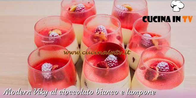 Modern Viky al cioccolato bianco e lampone ricetta Ida da Bake Off Italia 3 | Cucina in tv