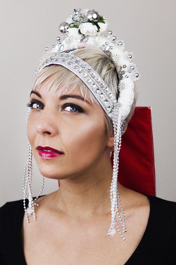 Traditional slovak wedding headpiece.