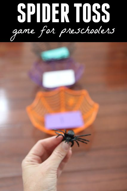 Toddler Approved!: Spider Toss Game for Preschoolers