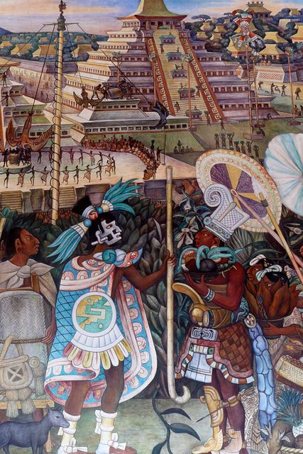 Mural de Diego Rivera, Totonacas de Veracruz. México. National Palace, Mexico City