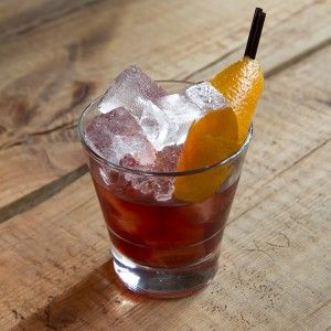 The Coffee Negroni - Orange and Coffee infused Ketel One vodka, vermouth, Campari