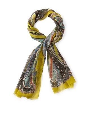 23% OFF Etro Women's Paisley Printed Scarf, Yellow Multi
