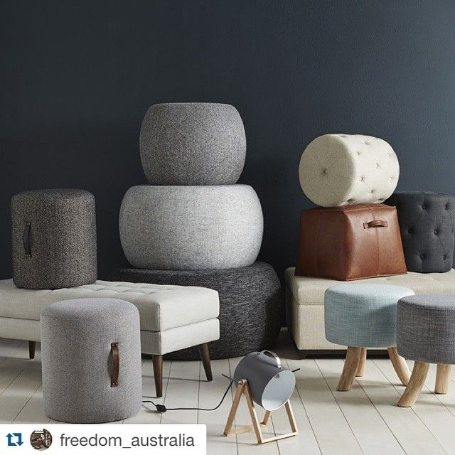 Our handle ottomans made it onto the catalogue shoot. Love what  @freedom_australia is doing! It's almost home time. Which means it's almost put up your feet time. #freedomaustralia #furniture #ottomans #sofa #chair #home #house #design #interiordesign #sofakingcool