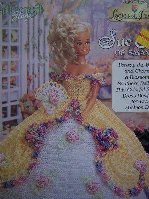 Rose Barbie Gown Free Crochet Pattern