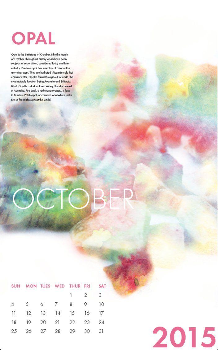 Opal October Calender by HaleyGottardo on DeviantArt