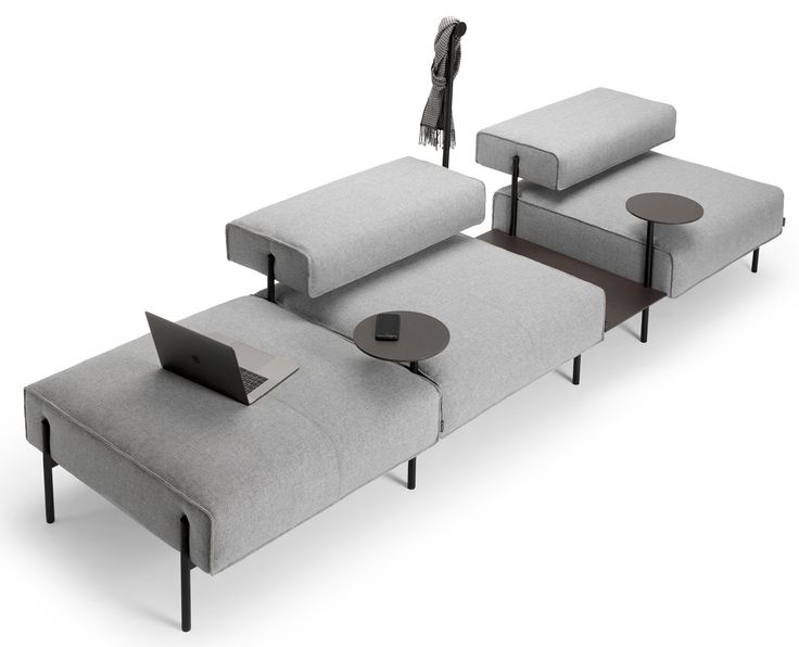 """Lucy Kurrein's modular sofa """"rejects the conventional working environment"""""""