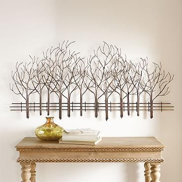 metal forest line artwork metal tree wall art metal on wall art id=15241