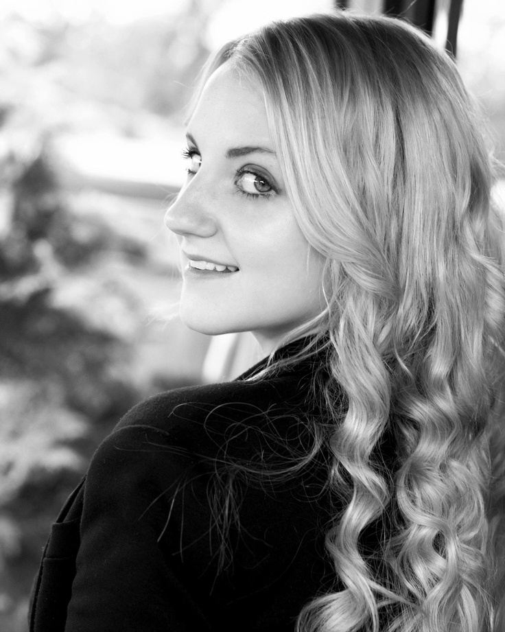 Evanna Lynch. As a young girl and avid Harry Potter fan, she was hospitalized for anorexia nervosa. She wrote to her idol, J.K. Rowling, who wrote back and provided much inspiration for her to deal with her eating disorder. Lynch identified strongly with Luna Lovegood and said she dreamed of playing her in the upcoming films. Rowling told her that if she beat anorexia, she would at least be able to have a shot at achieving that dream.  Guess what? She did.