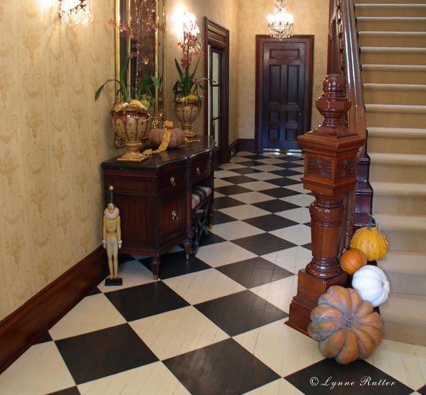 Victorian Kitchen Floor: 53 Best Checkerboard Floors Images On Pinterest