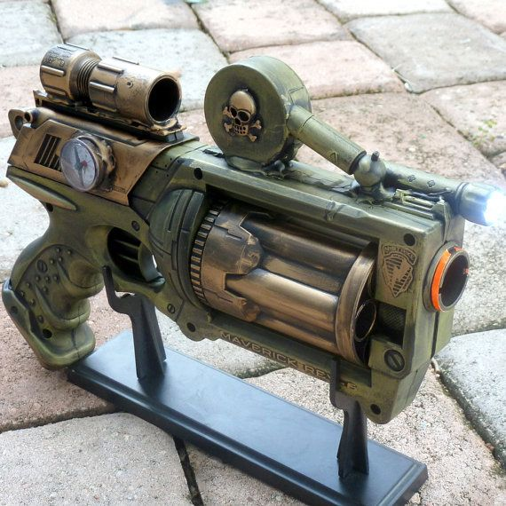 awesome steampunk Nerf gun my boys would love this too