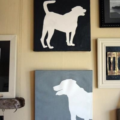 DIY Dog Silhouette Canvas – Tip Junkie Homemade....  Dassy my lab saw this and made me pin and asked when I was going to get to this......