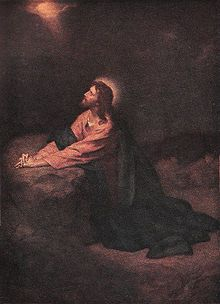 Christ in Gethsemane 1890 by Heinrich Hoffman, German painter best known for his works depicting the life of Jesus Christ, 1824-1911. 'Father, if you are willing, take this cup from me; yet not my will, but yours be done.' Luke 22:42