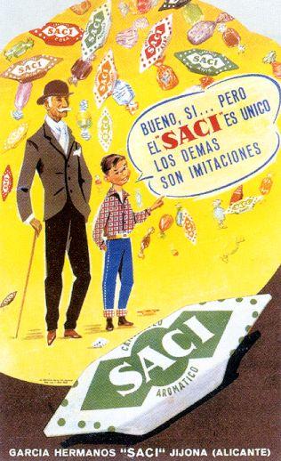 Caramelos Saci (comprábamos 10 por una peseta) // SACI = Sociedad Anónima Confitería Industrial