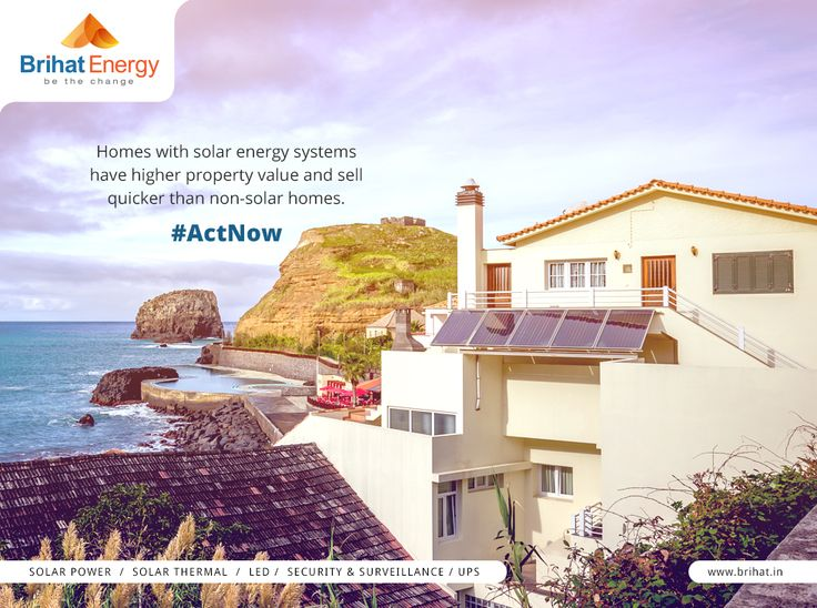 Homes with solar energy systems have higher property value and sell quicker than non-solar homes. #ActNow  Visit: goo.gl/q6ECB2