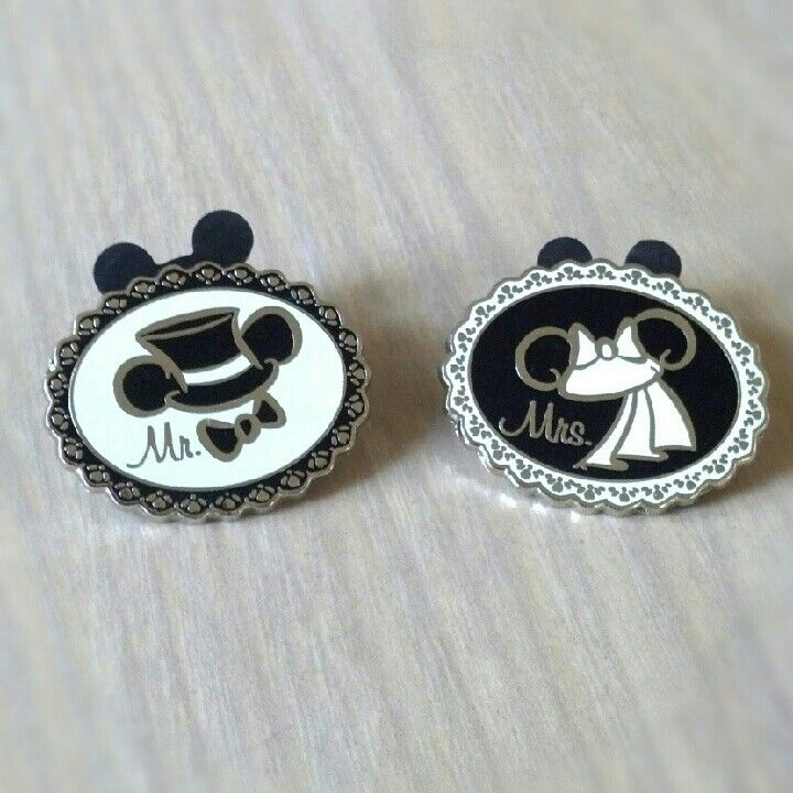 mr & mrs Disney pins! I reeeeaaally want to find something like these when we go in June!