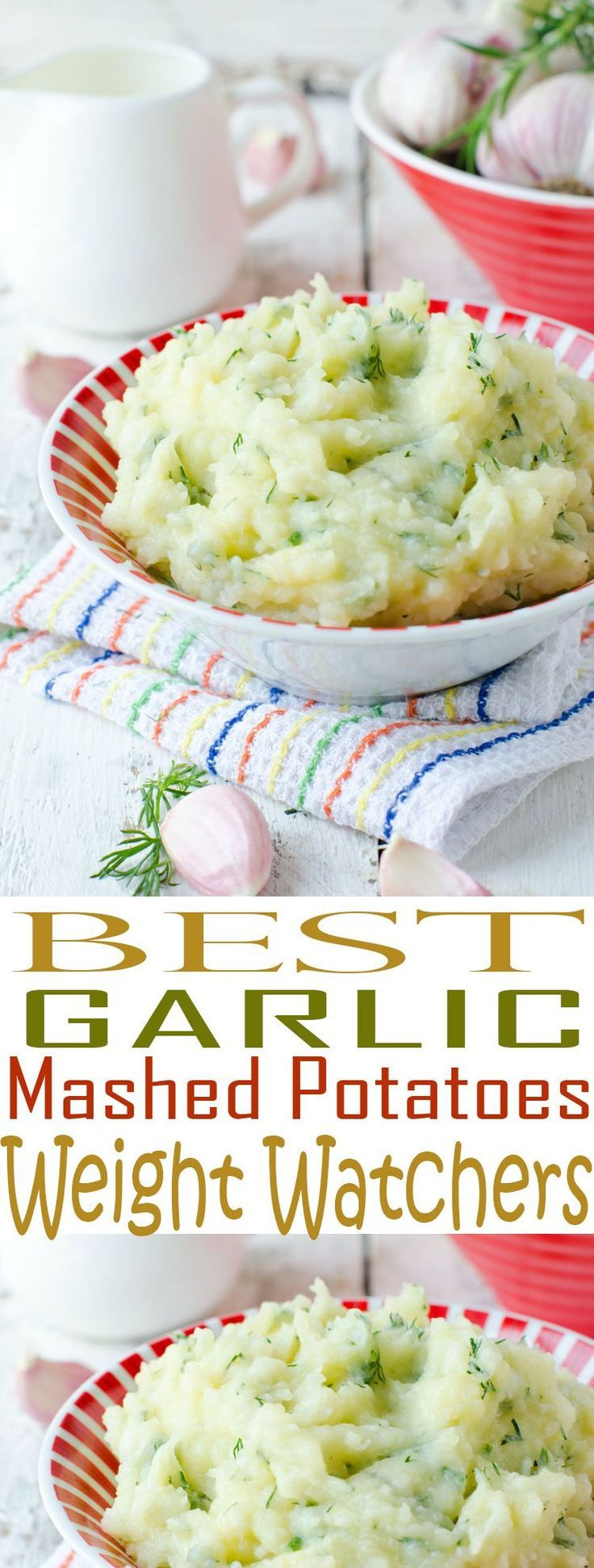 Weight Watchers Garlic Mashed Potatoes are an easy side dish recipe. You'll love these low fat mashed potatoes served alongside your main dish.