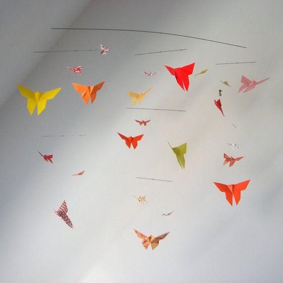 origami mobile (vlinders kan ook?)