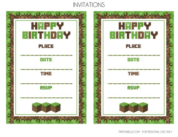 176 best party invitation images on pinterest halloween parties party minecraft birthday party invitations as an alternative for your pretty party invitations 7 solutioingenieria Images