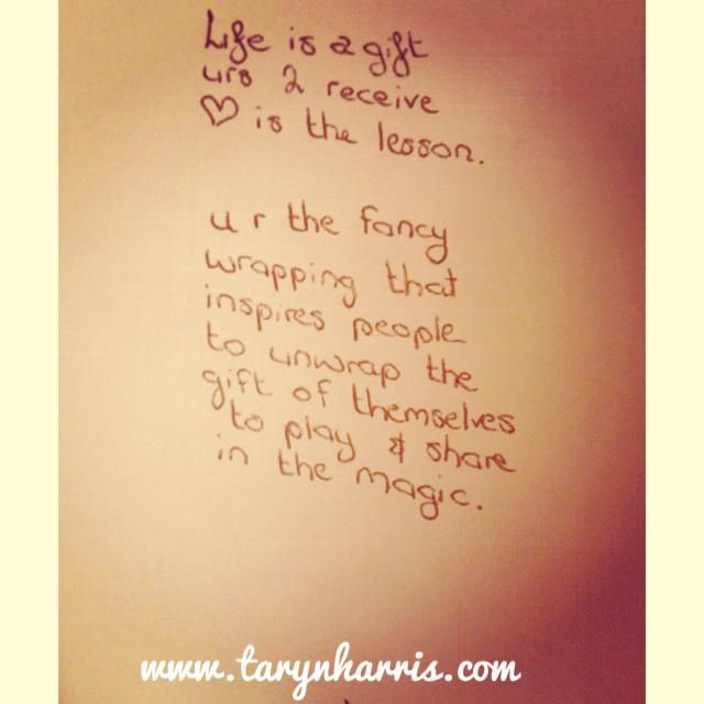 Life is a gift and Love is the reason