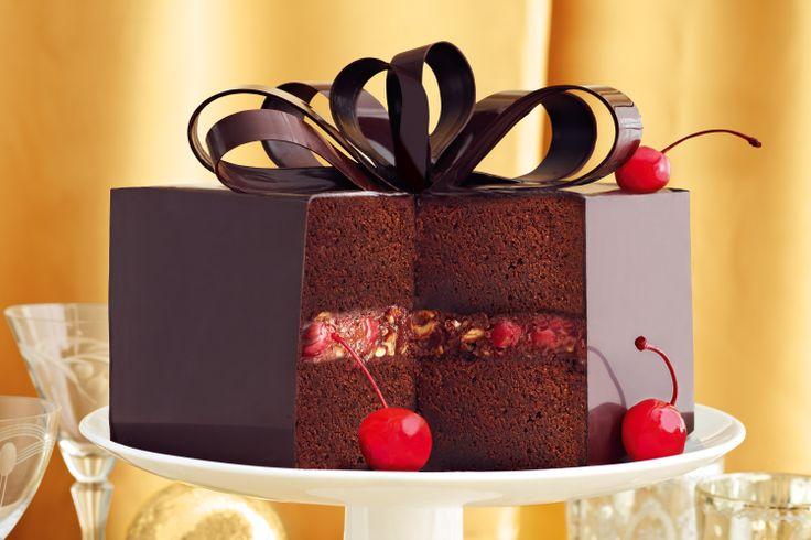 Choc-cherry mud cake #wedding #christmas http://www.taste.com.au/recipes/28379/choc+cherry+mud+cake