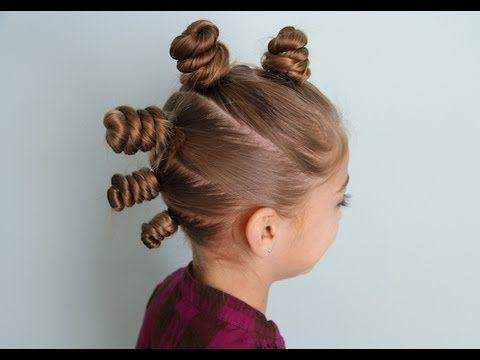 """The """"Bun-Hawk""""... perfect for Crazy Hair Day! #BunHawk"""