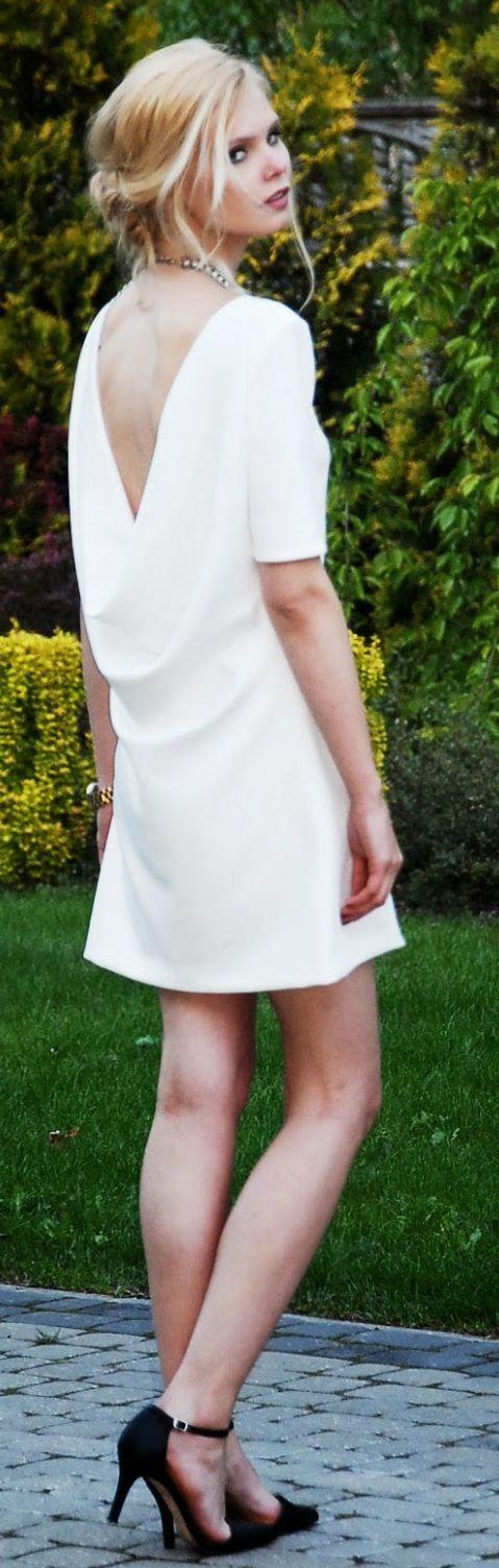 Diy White Drape Open Back Summer Dress