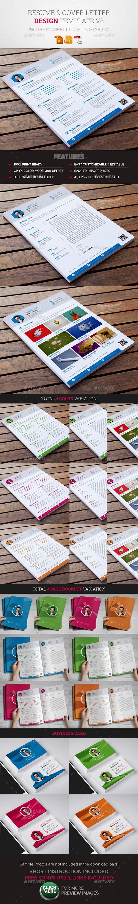 resume cover letter template v8