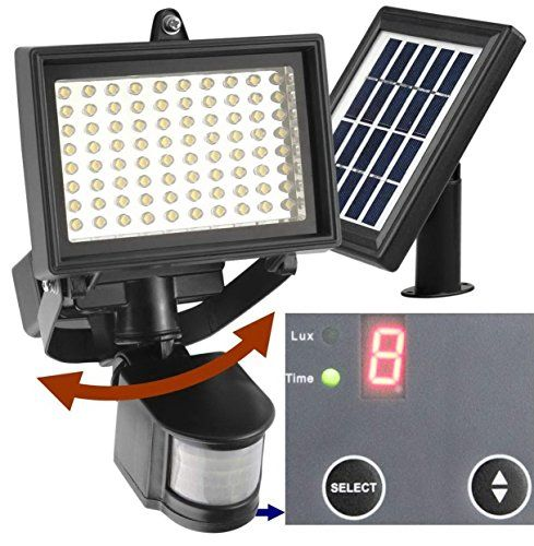 Robust Solar 80 LED Outdoor Solar Motion Light, Digitally Adjustable Time & LUX, 2-axis Adjustable Motion Sensor with Lithium Battery - #. 1 Year WORRY-FREE Warranty.   Replace Defective Light for FREE. #. How to contact us?   Sign in Amazon, find your order in the list, then click 'Contact Seller'.   We Reply EVERY Message in 1 or 2 days. #. KEYPOINTS *** ENHANCED WATERPROOF ability due to DIG...
