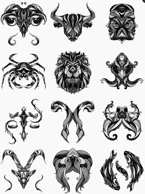 Signs of the Zodiac by Andreas Preis, via Behance