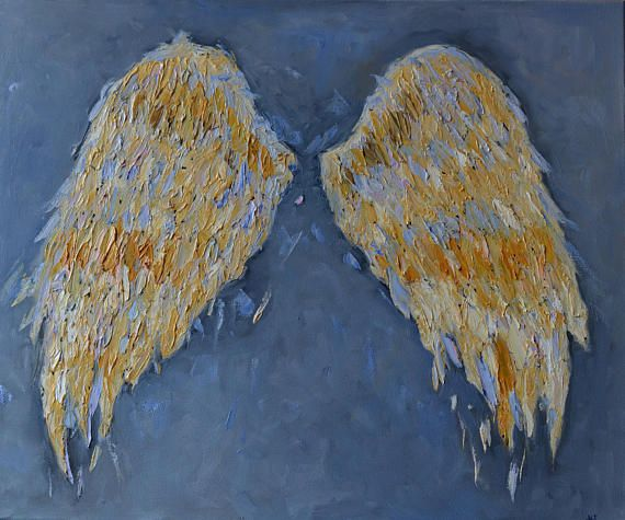 Angel Wings for Nursery Angel Wings Painting Angel Wings Wall