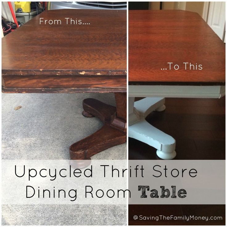 Upcycled Thrift Store Dining Room Table Update Your