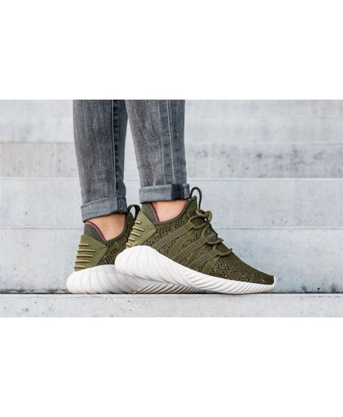 a68d33fca Adidas Tubular Dawn W Trace Olive Trace Olive Cream White Shoes | Ro ...