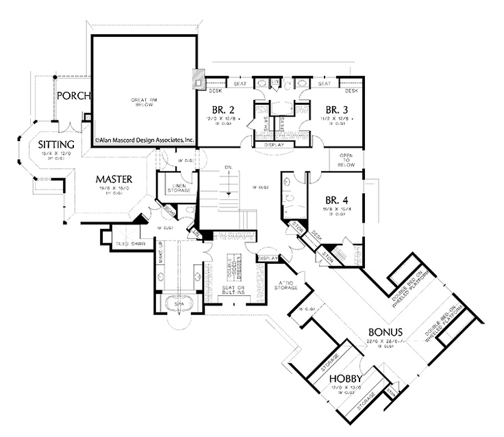 Eplans New American House Plan   Five Bedroom New American   6020 Square  Feet And 5 Bedrooms From Eplans   House Plan Code