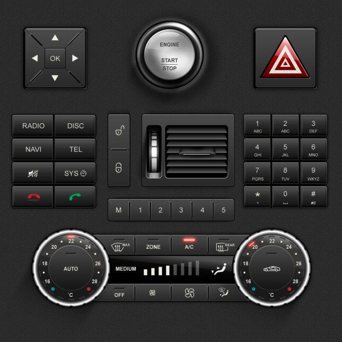 Mercedes-Benz Car UI
