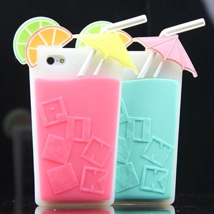 2014 Newest Victoria/'s Secret Pink Summer Drink 3D Cocktail Cup Case For iphone 4 4G 4s 5 5s Beverage Silicone Cover Free ship