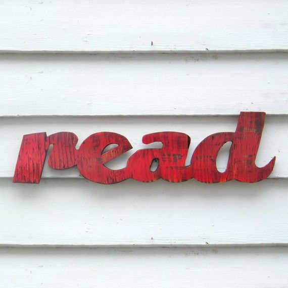 Read Sign Readers are Leaders School Teacher Kids Room Decor Barnwood Red