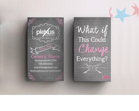 Personalized Plexus business cards sku 505 by PlexusDesignsBYMoJo