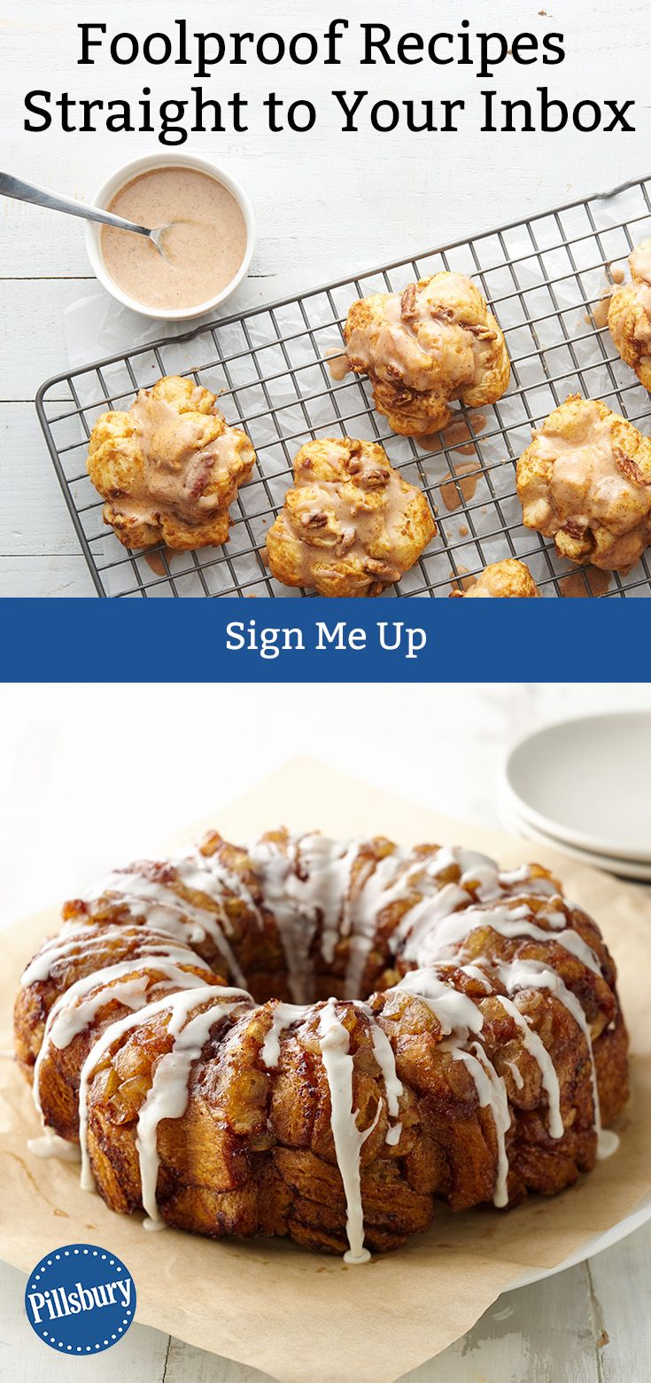 Sign up for Pillsbury's free emails to receive foolproof recipes and tasty meal ideas straight to your inbox!