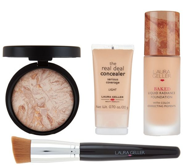Laura Geller Foundation Wardrobe 4 pc Complexion Collection — QVC.com