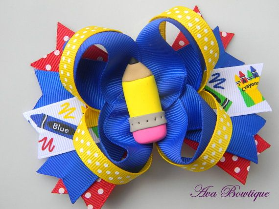 Back to School Boutique Hair Bow