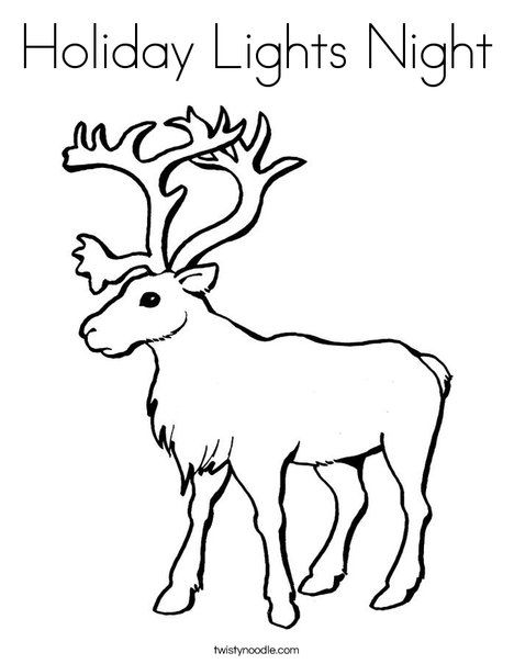 holiday lights night coloring page