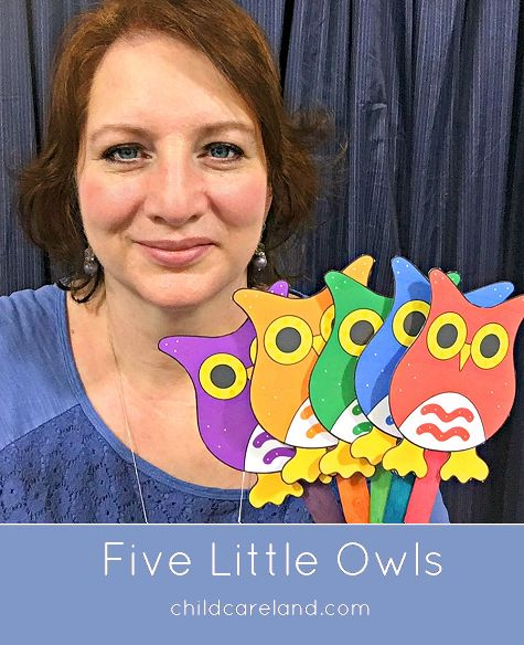 five little owls countdown rhyme for circle time