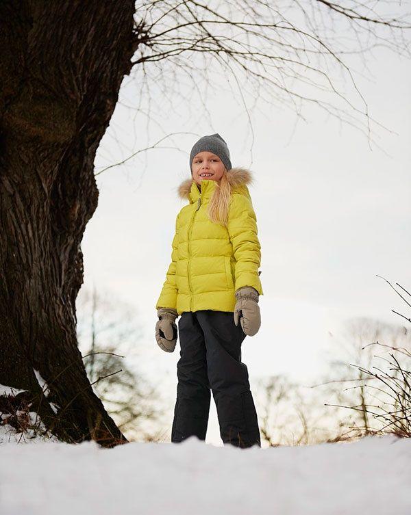 VER de TERRE | Featherlight girl jacket w/fur 2-16 yrs | AW13