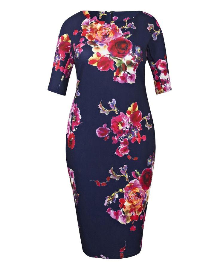 AX Paris Curve Bodycon Floral Dress