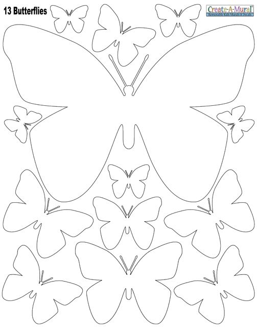 White Butterly Wall Stickers - this would be easier than cutting a bunch of butterflies out and then ironing them on the wall. We could do 2 pkgs.