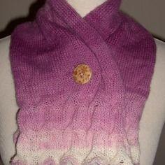 Echarpe /snood femme en laine et angora degrade mauve