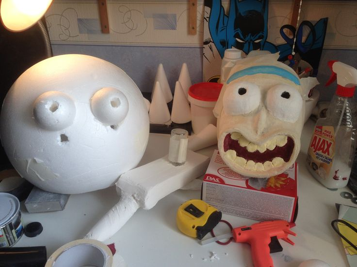 Progression Rick and Morty Mask for Comic Con 2015