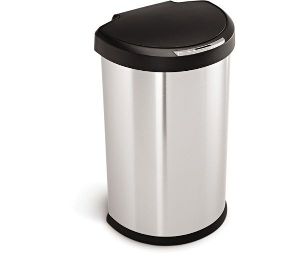 Buy simplehuman 45L Semi Round Sensor Bin - Silver at Argos.co.uk, visit Argos.co.uk to shop online for Kitchen bins, Kitchenware, Cooking, dining and kitchen equipment, Home and garden